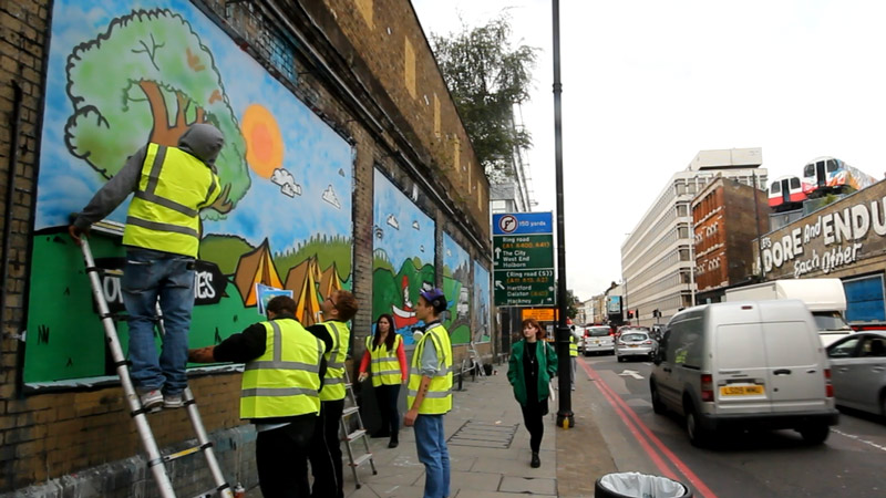The Princes Trust at The Shoreditch Art Wall #1