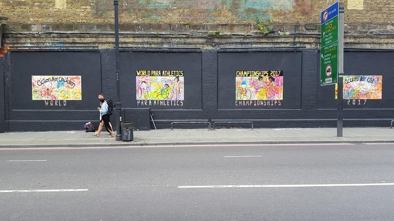 VISION artists at the Shoreditch Art Wall